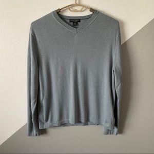 Banana Republic XL Silk Cashmere Vneck Sweater